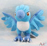 "free shipping 10pcs/lot Pokemon Plush Toy Articuno 6.5"" Cute Soft Stuffed blue bird Animal Doll Kid"