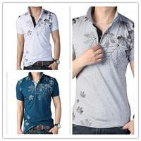 2015 new design men's t shirts Fashion Broadcloth Men's Short T Shirt Tops Big Size Sleeve Cotton Men T-shirt Brand Man Tee 3xl