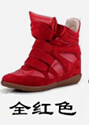 Star detonation  Han edition of Velcro increased in color matching single shoes sneakers leisure high help female shoes34-41