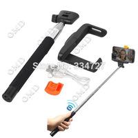 Wireless Bluetooth Mobile Phone Selfie Monopod for IPHONE 4 / 4S / 5 / 5S Handheld Mobile Phone Monopod  - Black
