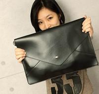 2014 Fashion Women Men Candy Color Envelope Handbag Vintage Body Cross Messenger Bag Pu Leather Briefcase Free Shipping 9 Colors