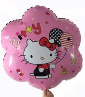 5pcs/lot flower shape hello kitty balloon in pink cute balloon hello kitty birthday party supplies hello kitty toys for children