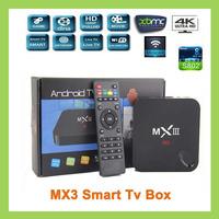 Original MX 3 Smart  TV Box Android 4.4 XBMC quad core  Midnight 2G RAM 8G ROM Dual ARM Cortex A9 WiFi Build In