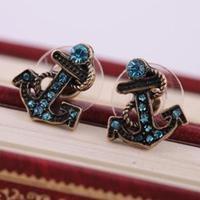E284 Fashion Women blue stud earring statement earring earings fashion jewelry dangle earring