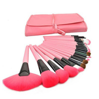 New Pro 24Pcs Pouch Bag Case Superior Soft Cosmetic Makeup Brush Set Kit Tonsee