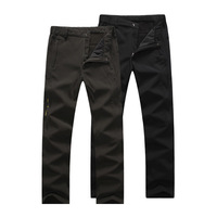 Men Winter warm trousers waterproof windproof hiking climbing camping pants fleece trousers men skiing pants Size XL-7XL