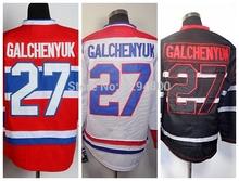 montreal canadiens barato al por mayor camisetas de hockey jersey #27 alex galchenyuk casa roja del camino blanco hielo negro jerseys cosidos(China (Mainland))