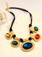 Europe and the United States retro exaggerated color Necklace An aristocratic temperament. Fashion style Free Shipping