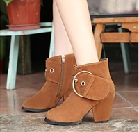 Autumn/winter collection Bare and thick with short boots boots High heel boots Martin OL lady's high-heeled platform shoes