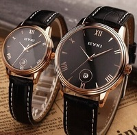 EYKI Brand 2014 Trendy Fashion Popular Design Japan Movement with calendra men women   Leather  Lover's Watch