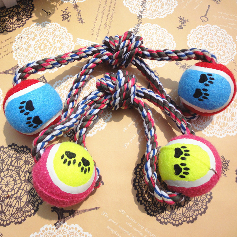 new High quality pet product plush molar small big dog ball bite toys interactive toys for dog cat for teeth clean free shipping(China (Mainland))