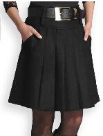 Autumn Winter New Arrival Pocket Pleated Thin Medium-Long Skirts , Plus Size Woolen Skirt