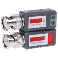 Free Shipping Single Channel Passive Video Balun - Grey + Silver (2 PCS)