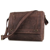 Crazy horse leather men messenger bags vintage men's bag genuine leather men shoulder bag casual briefcase brand name bags 2014
