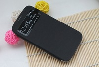 100pcs/lot*Slim Smart S-view S View Sleep Flip Leather Back Cover Case For Samsung Galaxy S4 I9500