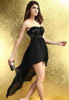 FREE SHIPPING Summer Fashion Sexy Charming Boulevard Sequined Long Dress Formal Dress Party Night Club Banquet Dress D6153