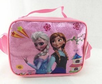 2014 The Newest Frozen Character Lunch Bag Cartoon Childers Lunchbox lunchbag for Girls Lunch