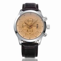 CURREN Brand Men Leather strap Watches,Men Quartz Auto Date,Military Waterproof Wristwatch Free Drop shipping