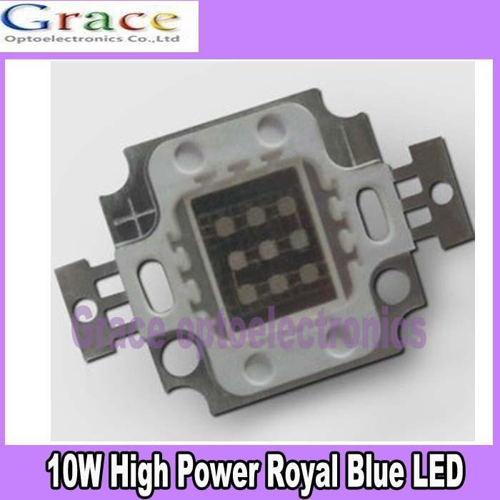 5pcs 10W Royal Blue Square High Power 45mil LED Light chip 1000mA 10-13V 445-450nm(China (Mainland))