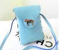 Fashion one shoulder aslant mini bag new pony mobile packet zero wallet