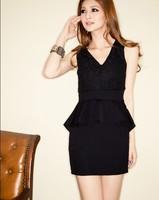 Modern Girls  High Waistline Evening Party Mini Dress