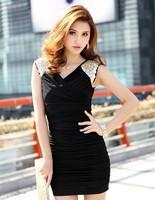 Ladies Elegant Sequin Embellished Sleeveless Clubbing Glamor Dress