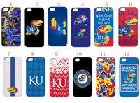vogue design  12PCS/LOT(12style) ku jayhawks hard case back cover for iPhone4 4th 4S+free shipping