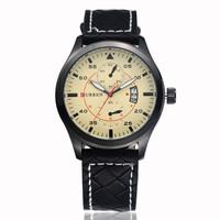 CURREN Man Quartz Calendar Watches,Military Movement Waterproof Wristwatch,Free shipping
