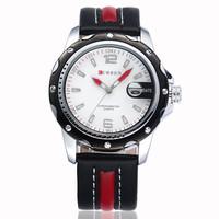 CURREN Brand Men Leather strap Watches,Quartz Military Waterproof Wristwatch Free Drop shipping