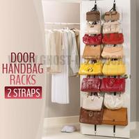 2014 Free Shipping Bag Rack Straps Hanger Adjustable Over Door Hat Bag Clothes Rack Holder Organizer Hooks multi-purpose storage