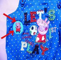 peppa pig Pepe Pepe Peppa Pig Pig dimensional stereoscopic badge badge