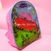 Pepe pig peppa pig backpack schoolbag children