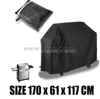 "Free shipping  Details about  67x24x46"" Size L Waterproof BBQ Cover Garden Rain Dust Barbecue Grill Protector"