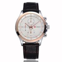 Sale! CURREN Brand Men Leather strap Watches,Fashion Quartz Military Waterproof Wristwatch Free Drop shipping