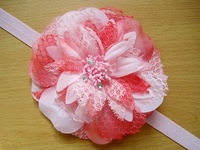 Free shipping Crystal center  flowers Girls headbands Baby flower headbands Child flower headbands Kids Hair accessories