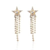 New 2014  Korean Style Star Drop Earrings Rhinestone Tassel Dangle Earrings For Women Trendy Jewelry   ED069