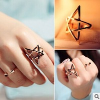 ZH0920 Fashion New Arrival  Elegant Jewelry 2014 women hollow star ring
