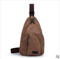 Free shipping  man fashion men's sling bag  vintage canvas sling bag backpack  travel bags bag tablet optional black  brown