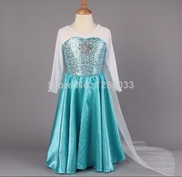 summer dress 1pc Frozen Elsa dress Girl Princess Dress Summer longsleeve diamond dress Elsa Costume, many designs in our store