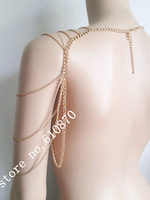 Wholesale 5pcs lots Women Lady Fashion Sexy Shoulder Armour Jewelry Chains Body Necklace