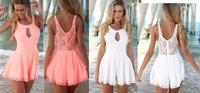 Fashion Desigual Women Summer Sexy Dress 2014 Desigual Kylie Jenner JET John Eshaya Pink Lace Floral OL Casual Party Dresses