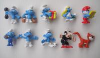 10pcs different smures cartoon figures size about 4-4.5cm  wholesale price