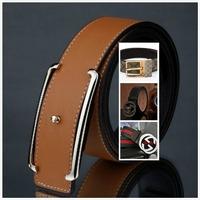 New Arrive Genuine Leather Belt Man Luxury Real Cowhide Leather Belts  Man Women Unisex Belts Fashion Buckle  Free Shipping