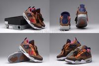 Free Shipping New Air Retro 4 IV Oreo South Beach Men's Basketball Sport Footwear Sneaker Shoes