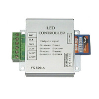 DMX512 controller guardrail tube controller mini SD card led pixel module controller 1024/2048 pixels YSL-SD01 Free shipping
