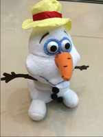 Free shipping Stock 2014 New Frozen Lovely OLAF the Snowman with hat Plush Doll Stuffed Toy