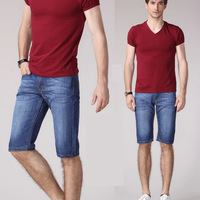 Summer new arrival korean men's jeans shorts, famous brand denim men short pants wholesale shorts for men  plus size 40