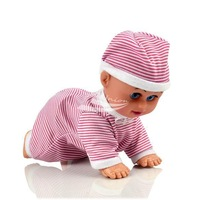 Crawling Baby Doll Toy Clever Baby Laugh Music Say Mama Daddy and learn crawl pink