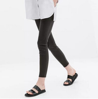 New Fashion Ladies' fashion elegant sexy faux leather Skinny pants cozy trouses casual slim quality brand designer pants