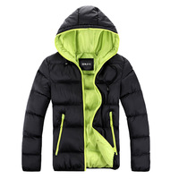 2014 Men's  Slim Casual Outdoor Down Jacket  With Hooded  Winter Super Warm Thickening Outerwear  Cotton-Padded Jacket  Overcoat